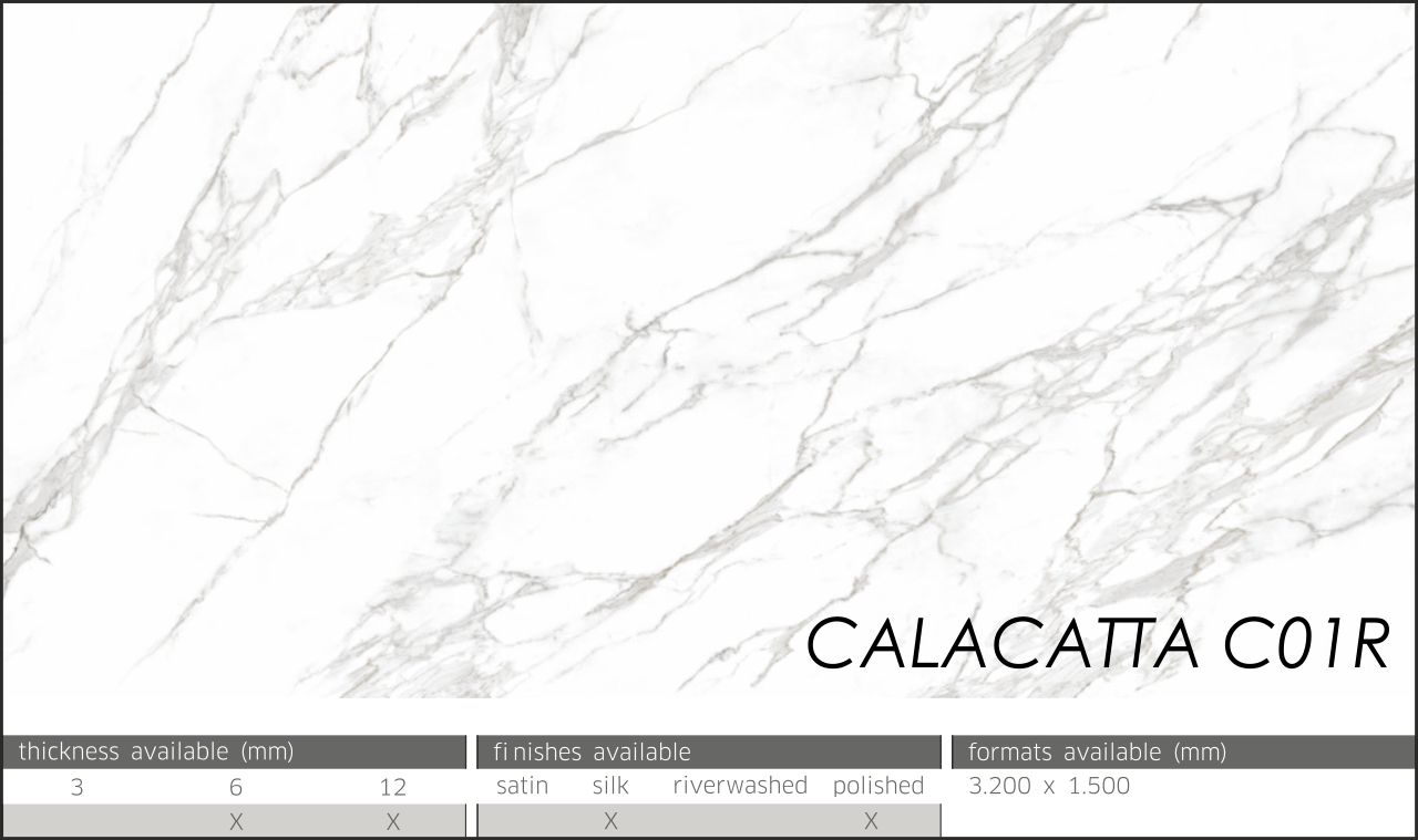 CALACATTA NEOLITH 01 R LASTRE NEOLITH POLISHED