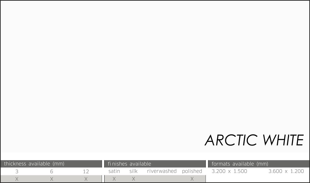ARCTIC WHITE NEOLITH LASTRE NEOLITH SATINADO